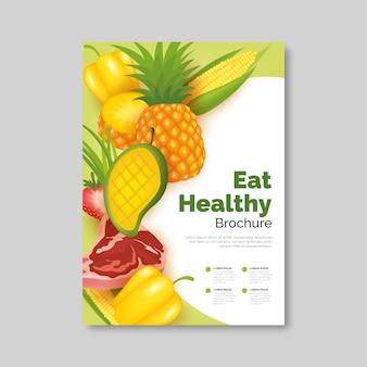 Projekt plakatu zdrowej żywności