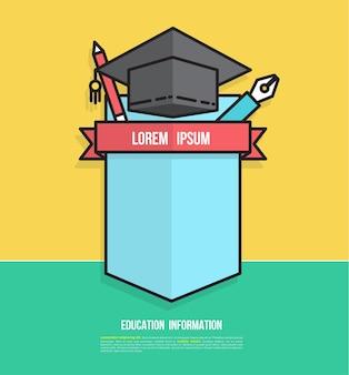 Projekt plakietki edukacyjnej do tworzenia planu studiów
