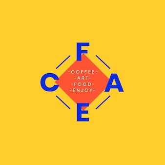 Projekt plakietki logo kawiarni i sztuki