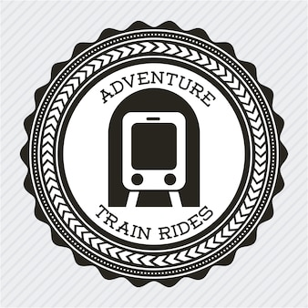 Projekt pociągu na szarym tle ilustracji wektorowych