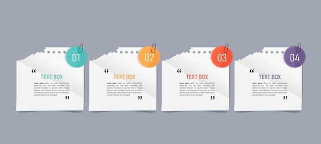 Projekt pola tekstowego z notatkami