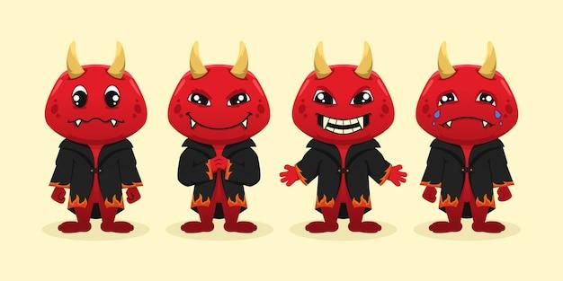 Projekt postaci diabła maskotki