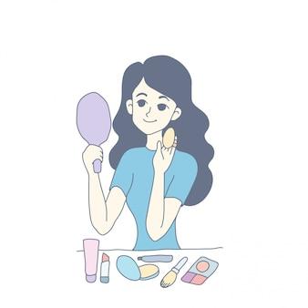 Projekt postaci dziewczyny wektora
