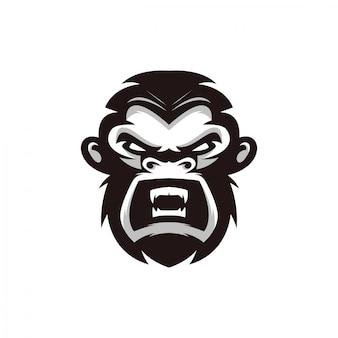 Projekt postaci głowy małpy