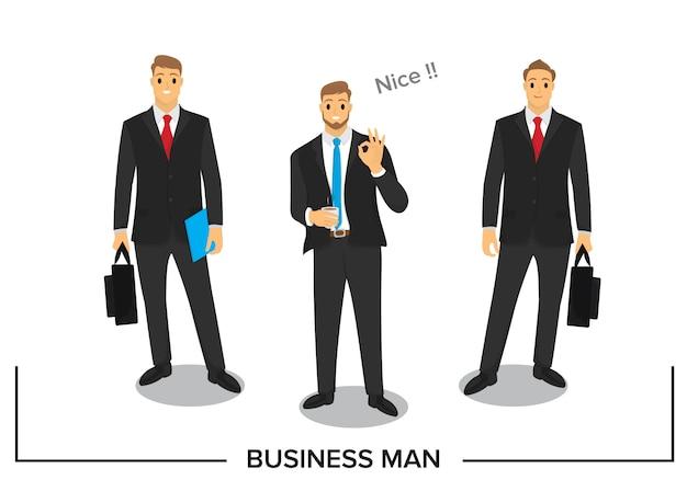Projekt postaci ludzi biznesu