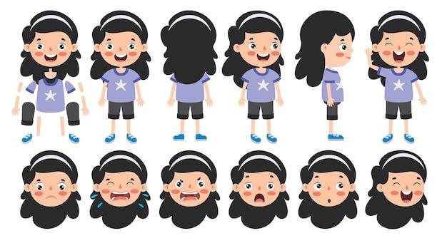 Projekt postaci z kreskówek do animacji