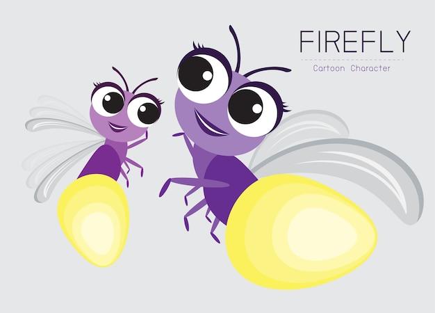 Projekt postaci z kreskówek firefly ładny styl koncepcji