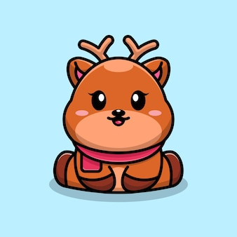 Projekt postaci z kreskówki słodkie dziecko jelenia