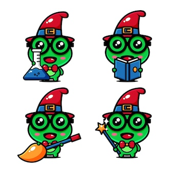 Projekt postaci z uroczej żaby wiedźmy dotyczył świata czarownic