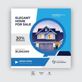 Projekt postów w mediach społecznościowych dotyczących nieruchomości