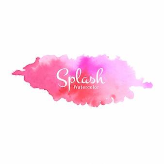 Projekt powitalny akwarela różowy kolor