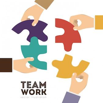 Projekt pracy zespołowej, ilustracji wektorowych.