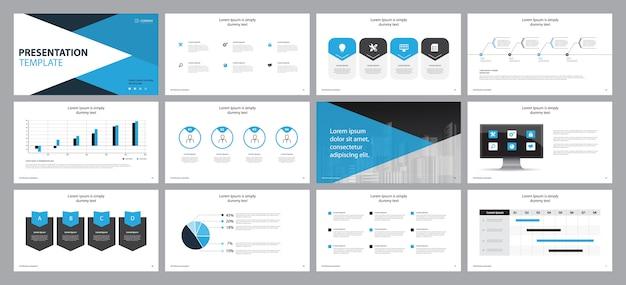 Projekt prezentacji szablonu i projekt układu strony dla broszury, książki, raportu rocznego