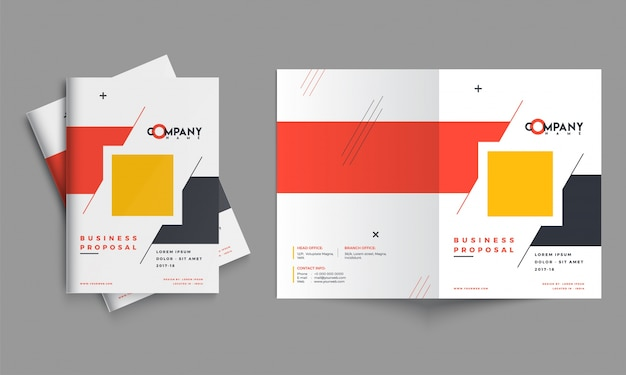 Projekt propozycji kreatywnego biznesu, układ szablonu korporacyjnego