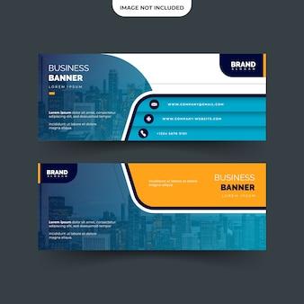 Projekt prostego i nowoczesnego szablonu banera biznesowego na fanpage, łatwy do edycji