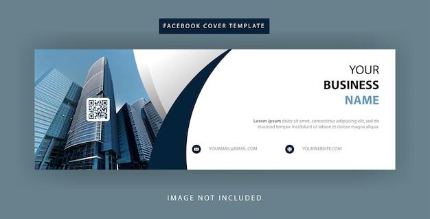 Projekt prostego szablonu okładki na facebook