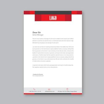Projekt prosty czerwony list