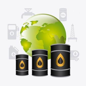 Projekt przemysłu naftowego.