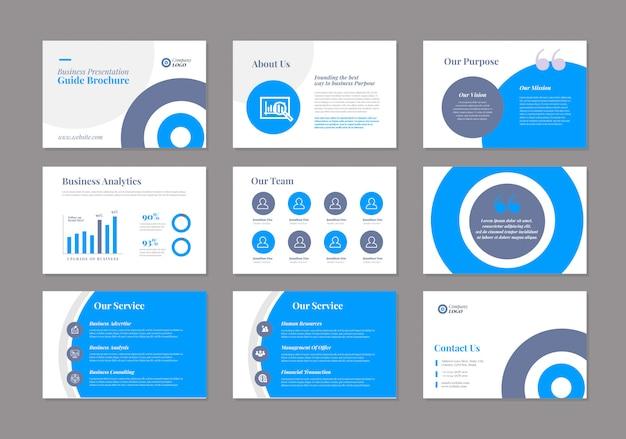 Projekt przewodnika prezentacji biznesowych szablon powerpoint | suwak przewodnika sprzedaży