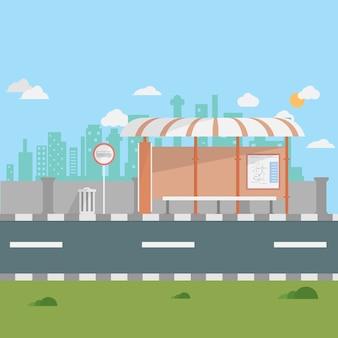 Projekt przystanek autobusowy tło
