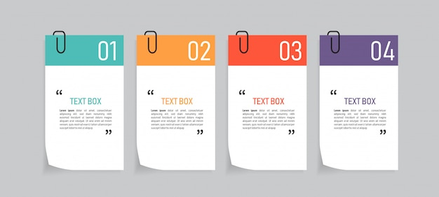 Projekt pudełka tekstowego z dokumentami.