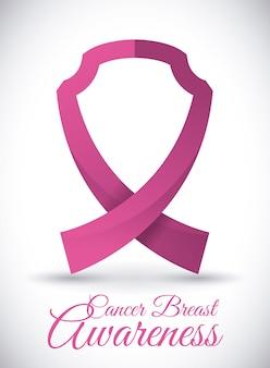Projekt raka piersi, ilustracji wektorowych.