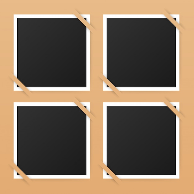 Projekt ramki na zdjęcia. realistyczna fotografia z copyspace dla twój wizerunku.