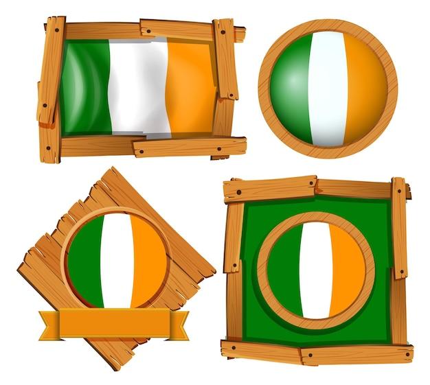 Projekt ramy dla flagi irlandii