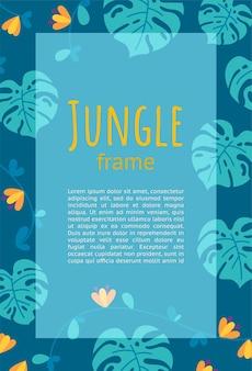 Projekt ramy jungle do prezentacji i ulotek gotowy projekt pionowy