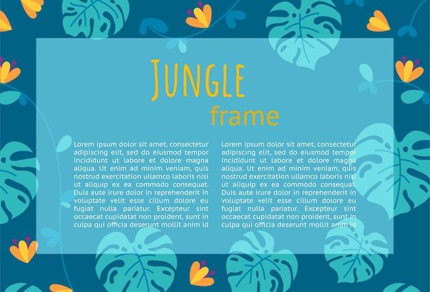 Projekt ramy jungle do prezentacji i ulotek gotowy projekt poziomy