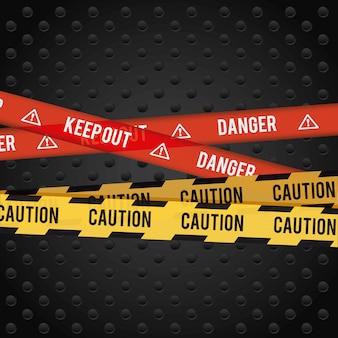 Projekt reklamy niebezpieczeństwa.