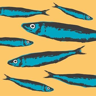 Projekt ryby wzór