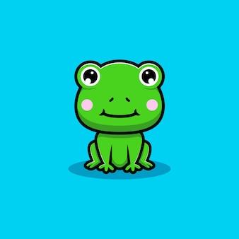Projekt siedzącej ślicznej żaby