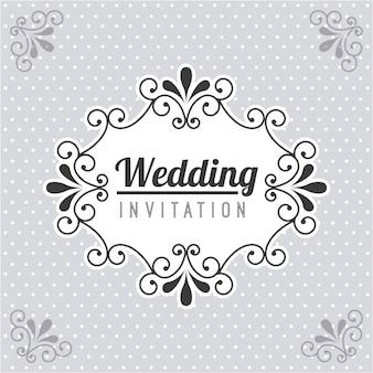 Projekt ślubu na kropkowanym tle ilustracji wektorowych