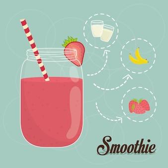 Projekt smoothie. illuistration