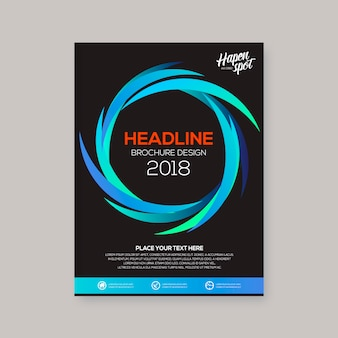 Projekt spirali biznesowej broszury