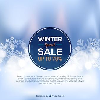 Projekt sprzedaży zimowy rozmyte