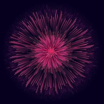 Projekt starburst circle. okrągłe promienie