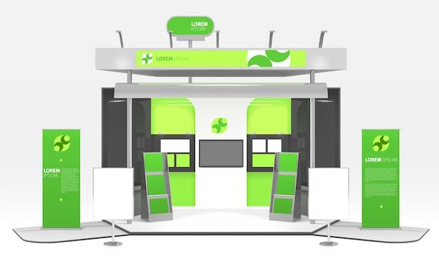 Projekt stoiska wystawienniczego green energy