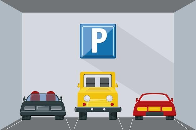Projekt strefy parkingowej