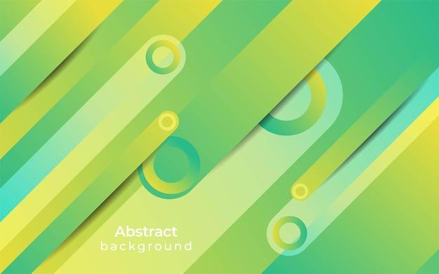 Projekt streszczenie geometryczne zielone tło