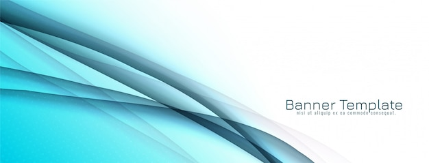 Projekt streszczenie ozdobny fala niebieski transparent