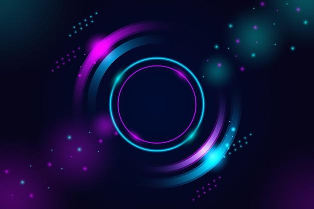 Projekt streszczenie tło światła neonowe