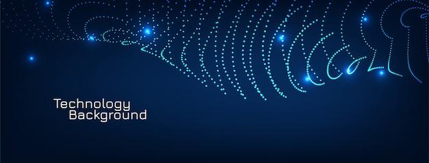 Projekt streszczenie transparent niebieski nowoczesny cząstek