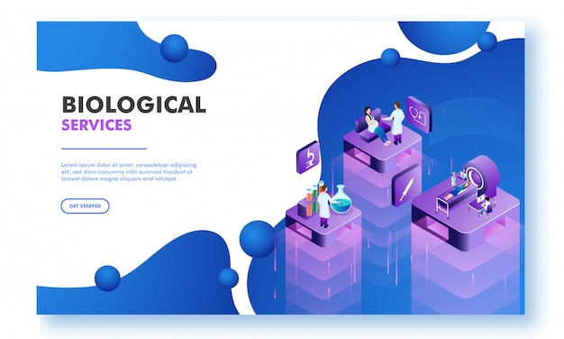 Projekt strony docelowej dla nauk biologicznych