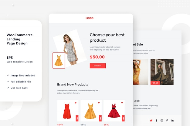 Projekt strony docelowej e-commerce