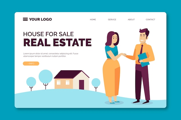 Projekt strony docelowej nieruchomości