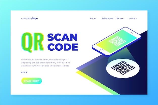 Projekt strony docelowej skanowania kodu qr
