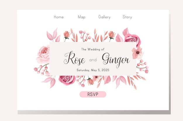 Projekt strony docelowej ślubu