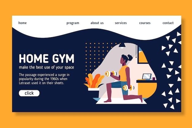 Projekt strony docelowej sportu w domu